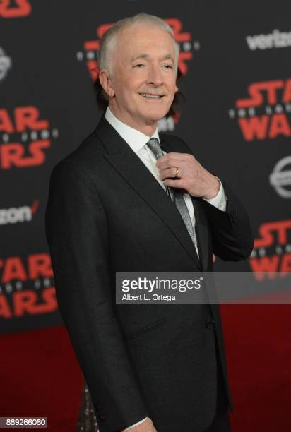 Actor Anthony Daniels arrives for the Premiere Of Disney Pictures And Lucasfilm's 'Star Wars The Last Jedi' held at The Shrine Auditorium on December...