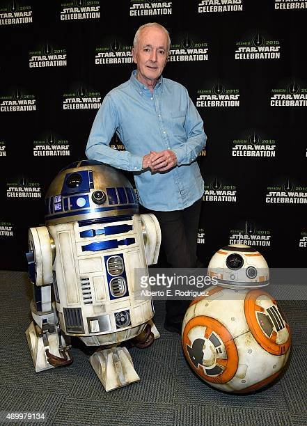 Actor Anthony Daniels attends Star Wars Celebration 2015 on April 16 2015 in Anaheim California