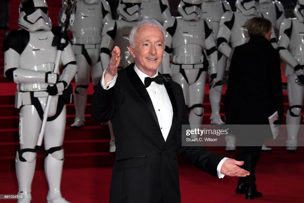 Actor Anthony Daniels attends the European Premiere of 'Star Wars: The Last Jedi' at Royal Albert Hall on December 12, 2017 in London, England.