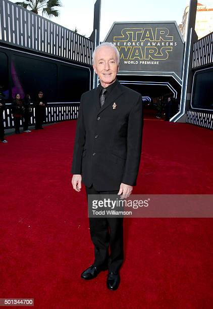 Actor Anthony Daniels attends the premiere of Walt Disney Pictures and Lucasfilm's Star Wars The Force Awakens at the Dolby Theatre on December 14th...