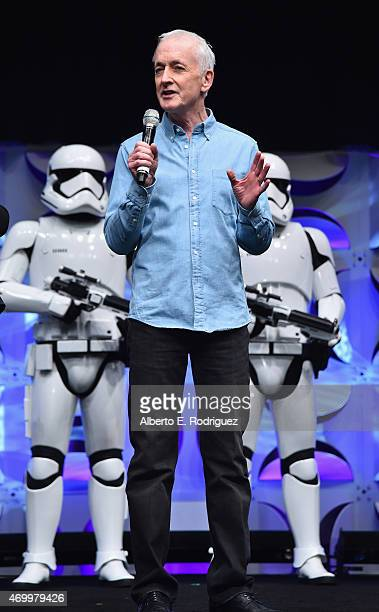 Actor Anthony Daniels speaks onstage during Star Wars Celebration 2015 on April 16 2015 in Anaheim California