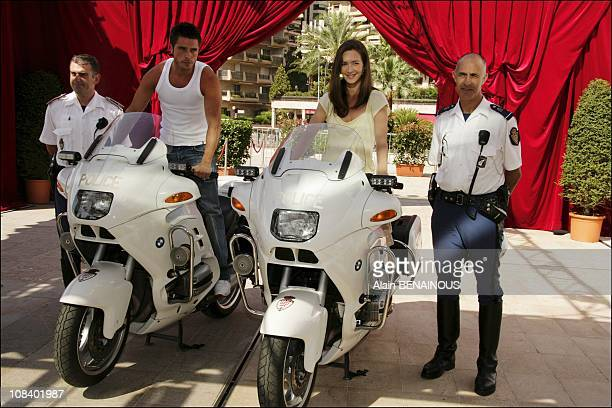 Actor Anthony Dupray and actress Emmanuelle Boidron in Monaco on July 01 2005