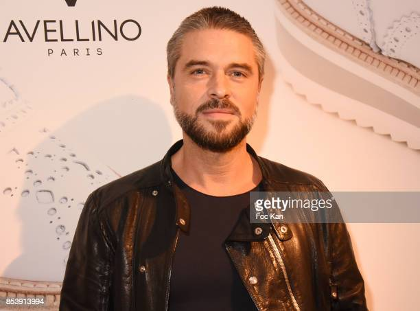 Actor Anthony Dupray attends Avellino Cocktail Party at Avellino Store Rue de Richelieu on September 25 2017 in Paris France