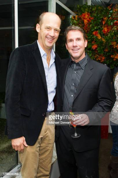 Actor Anthony Edwards and author Nicholas Sparks attends Bombay Sapphire and Nicholas Sparks celebration of the release of Best of Meat at Michael's...