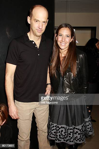 Actor Anthony Edwards and Gabby Karan De Felice attend the Bonnie Young 2008 Spring Trunk Show at the Donna Karan Collection Boutique March 8 2008 in...