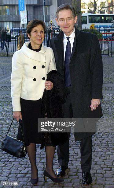 Actor Anthony Edwards and guest arrive for the Womans Own Children Of Courage Awards at Westminster Abbey on December 12 2007 in London England
