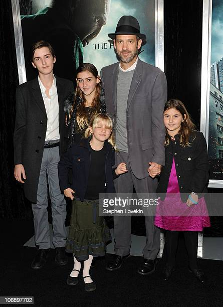 """Actor Anthony Edwards and his family attend the premiere of """"Harry Potter and the Deathly Hallows - Part 1"""" at Alice Tully Hall on November 15, 2010..."""