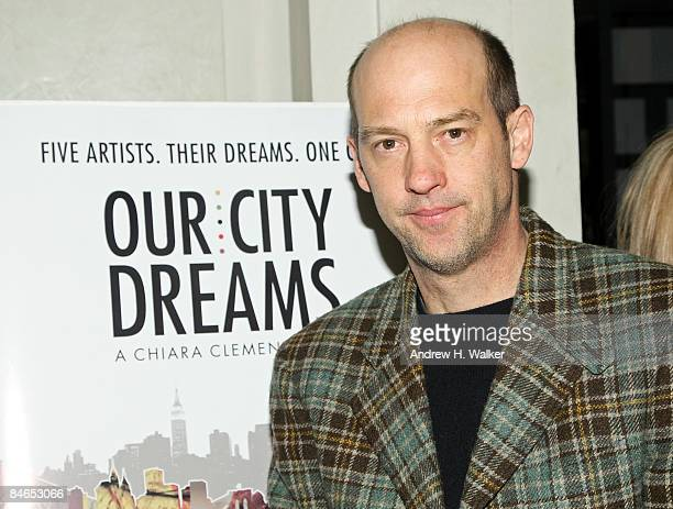 """Actor Anthony Edwards attend the after party for the premiere of """"Our City Dreams"""" at Thom Bar at the Thompson Hotel on February 4, 2009 in New York..."""
