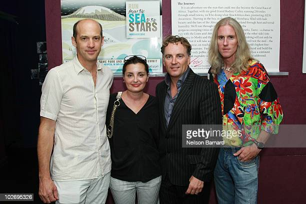 Actor Anthony Edwards Jeanine Lobell celebrity hairdresser Rodney Cutler and Toby Tanser CEO and Founder of Shoe4Africa attend the Sea To The Stars...