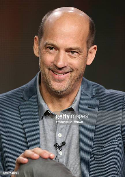 """Actor Anthony Edwards of """"Zero Hour"""" speaks onstage during the ABC portion of the 2013 Winter TCA Tour at Langham Hotel on January 10, 2013 in..."""