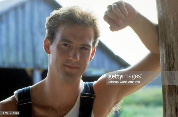 Actor Anthony Edwards poses in a scene from the movie 'Summer Heat' circa 1987