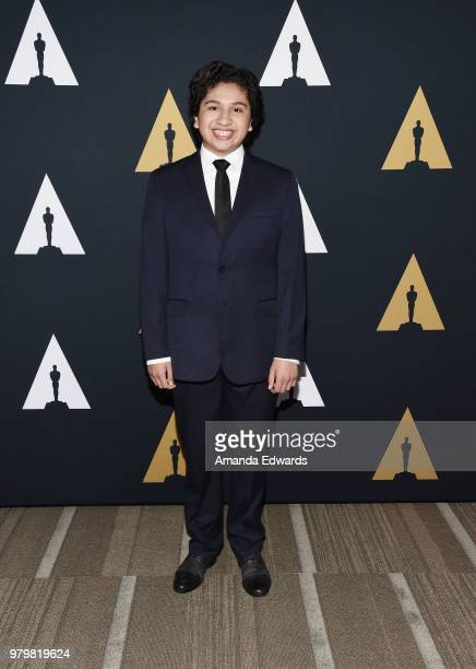 Actor Anthony Gonzales arrives at The Academy Of Motion Picture Arts And Sciences presentation of 'The Sherman Brothers A Hollywood Songbook' at the...