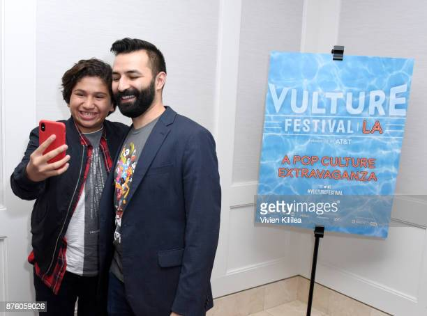 Actor Anthony Gonzalez and director Adrian Molina attend Pixar's 'COCO' screening and interview presented by Screenvision Media at Vulture Festival...