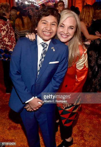 Actor Anthony Gonzalez and Producer Darla K Anderson at the US Premiere of DisneyPixar's Coco at the El Capitan Theatre on November 8 in Hollywood...