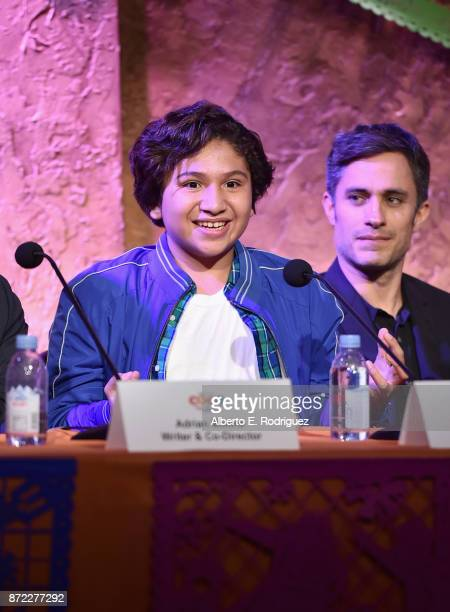 Actor Anthony Gonzalez at the Global Press Conference for DisneyPixar's 'Coco' at The Beverly Hilton Hotel on November 9 2017 in Beverly Hills...