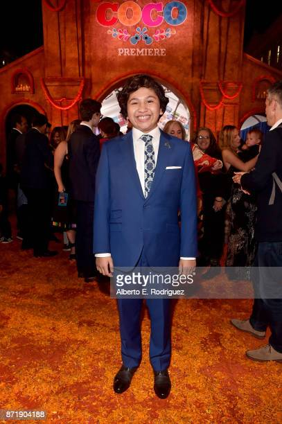 Actor Anthony Gonzalez at the US Premiere of DisneyPixar's 'Coco' at the El Capitan Theatre on November 8 in Hollywood California
