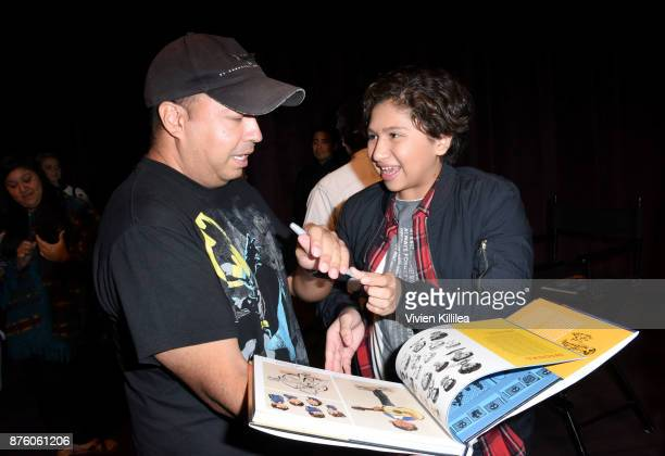Actor Anthony Gonzalez signs autographs at Pixar's 'COCO' screening and interview presented by Screenvision Media at Vulture Festival LA presented by...