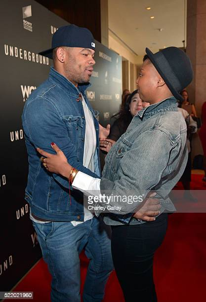 Actor Anthony Hemingway and executive producer/creator Misha Green attend WGN America's Underground For Your Consideration Emmy Event on April 17...