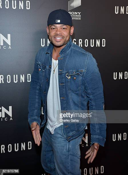 Actor Anthony Hemingway attends WGN America's Underground For Your Consideration Emmy Event on April 17 2016 in Beverly Hills California