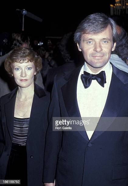 Actor Anthony Hopkins and wife Jennifer Lynton attend 36th Annual Golden Globe Awards on January 27 1979 at the Beverly Hilton Hotel in Beverly Hills...