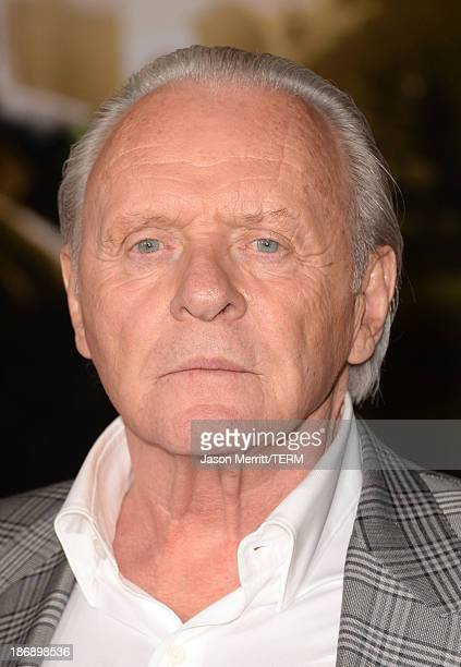 Actor Anthony Hopkins arrives at the premiere of Marvel's Thor The Dark World at the El Capitan Theatre on November 4 2013 in Hollywood California