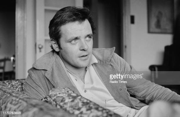 Actor Anthony Hopkins interviewed for the BBC television drama 'Biography Danton' September 7th 1970