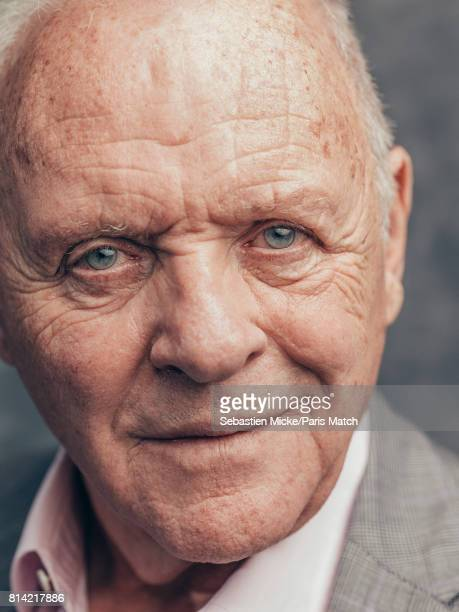 Actor Anthony Hopkins is photographed for Paris Match on April 12 2017 in Paris France