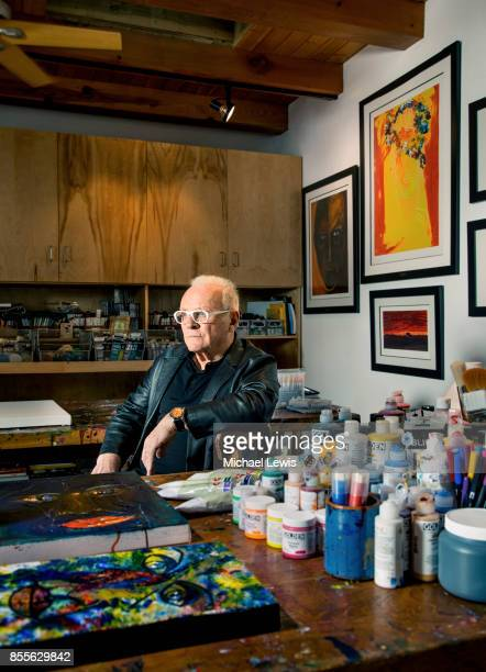 Actor Anthony Hopkins photographed in his painting studio on November 27 in Malibu California