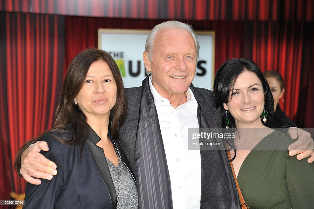 Actor Anthony Hopkins, wife Stella Arroyave and guest ...
