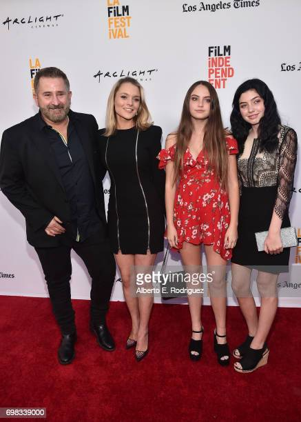 Actor Anthony LaPaglia Alexandra Hankel Bridget LaPaglia and guest attend the premiere of Warner Bros Pictures' Annabelle Creation during the 2017...