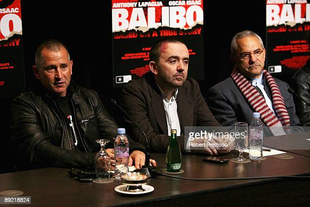 Actor Anthony LaPaglia along with Director Robert Connolly and Dr Jose RamosHorta talk to the media during a press conference for 'Balibo' as part of...