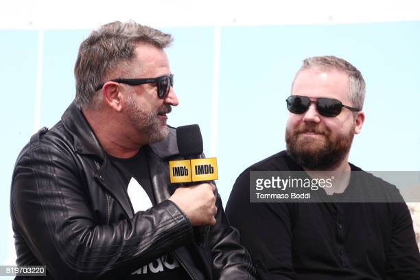 Actor Anthony LaPaglia and director David F Sandberg at the #IMDboat At San Diego ComicCon 2017 on the IMDb Yacht on July 20 2017 in San Diego...