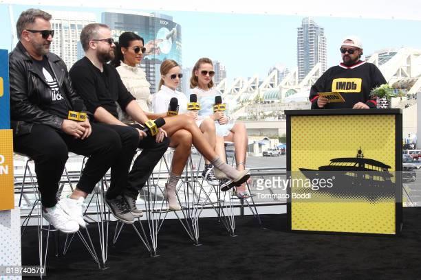 Actor Anthony LaPaglia director David F Sandberg Stephanie Sigman Lulu Wilson Talitha Bateman and host Kevin Smith at the #IMDboat At San Diego...