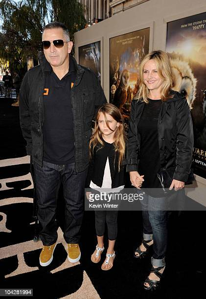 Actor Anthony LaPaglia his daughter Bridget and wife Gia Carides arrive at the premiere of Warner Bros Legend of The Guardians The Owls of Ga'Hoole...