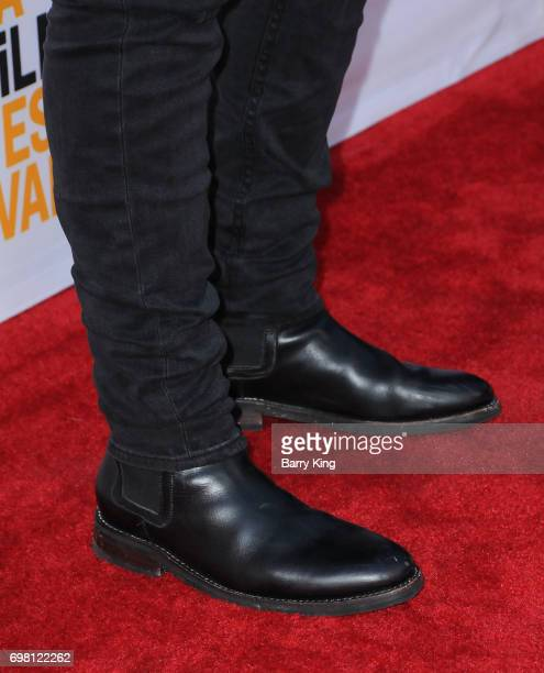 Actor Anthony LaPaglia shoe detail attends the 2017 Los Angeles Film Festival Premiere of Warner Brothers Pictures' 'Annabelle Creation' at The...
