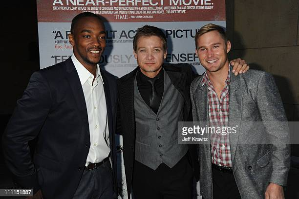 Actor Anthony Mackie Actor Jeremy Renner and Actor Brian Geraghty arrive at Summit Entertainment's Premiere of 'The Hurt Locker' held at the Egyptian...