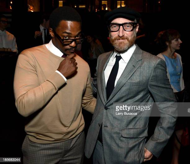 Actor Anthony Mackie and Author Jonathan Ames attend PRADA Journal A Literary Contest In Collaboration With Feltrinelli Editore at the Prada...