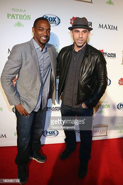 """Actor Anthony Mackie and Billy Dec attend The Maxim Party With """"Gears of War: Judgment"""" For XBOX 360, FOX Sports & Starter Presented by Patron..."""