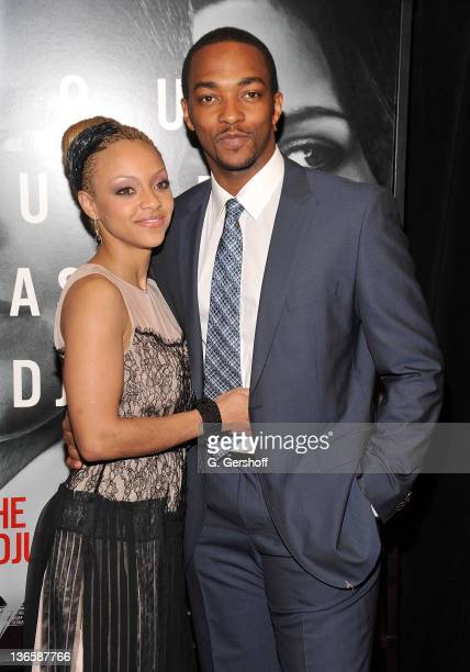 Actor Anthony Mackie and girlfriend Sheletta Chapital attend the premiere of The Adjustment Bureau at the Ziegfeld Theatre on February 14 2011 in New...