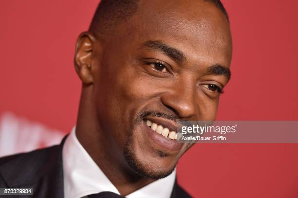 Actor Anthony Mackie arrives at SAGAFTRA Foundation Patron of the Artists Awards 2017 on November 9 2017 in Beverly Hills California