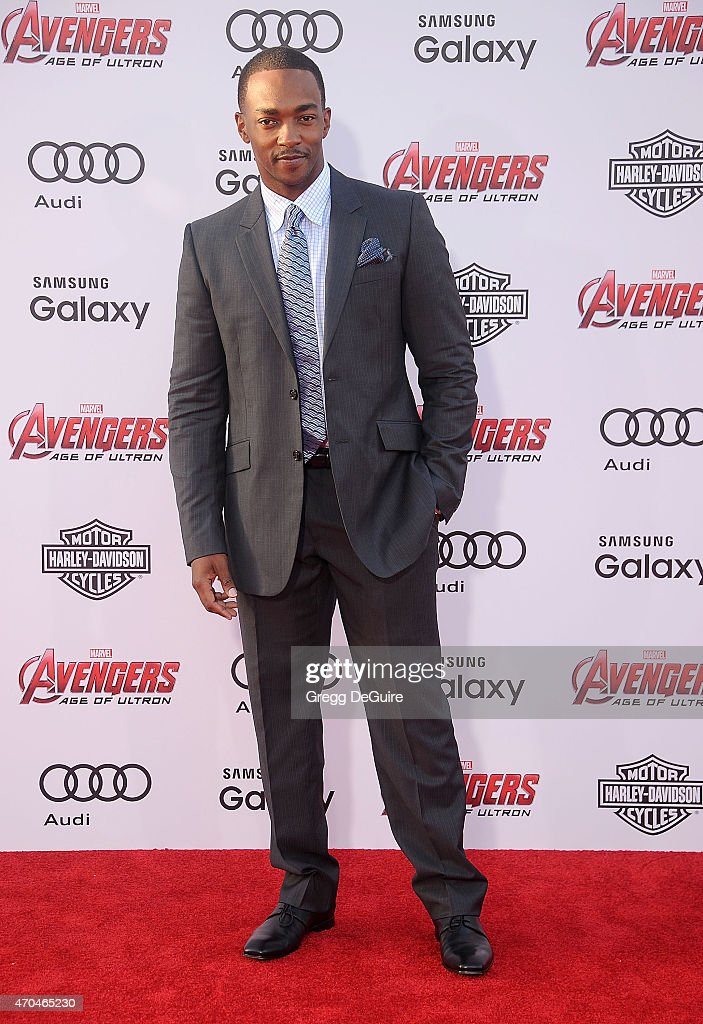 Actor Anthony Mackie arrives at the Los Angeles premiere of Marvel's 'Avengers: Age Of Ultron' at Dolby Theatre on April 13, 2015 in Hollywood, California.