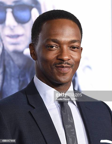 Actor Anthony Mackie arrives at the premiere of Warner Bros Pictures' 'Our Brand Is Crisis' at TCL Chinese Theatre on October 26 2015 in Hollywood...