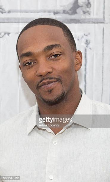 Actor Anthony Mackie attends 'All The Way' At AOL Build at AOL on May 18 2016 in New York City