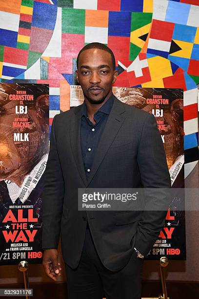 Actor Anthony Mackie attends Atlanta special screening of HBO Films' 'All The Way' at The Carter Center on May 19 2016 in Atlanta Georgia