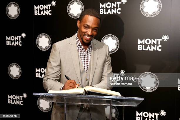 Actor Anthony Mackie attends Montblanc honors Jane Rosenthal at 2014 Montblanc de la Culture Arts Patronage Award Ceremony on June 3 2014 in New York...