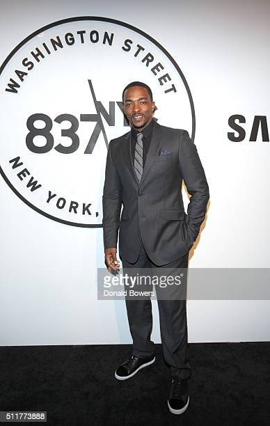 Actor Anthony Mackie attends Samsung 837 Launch with Florence The Machine at Samsung 837 in Meatpacking District on February 22 2016 in New York City