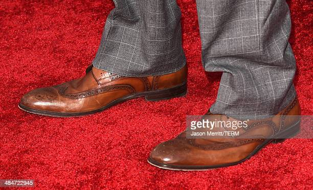 Actor Anthony Mackie attends the 2014 MTV Movie Awards at Nokia Theatre LA Live on April 13 2014 in Los Angeles California