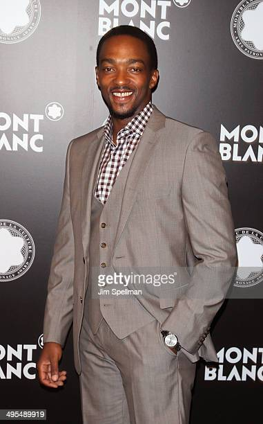 Actor Anthony Mackie attends the 23rd Annual Montblanc De La Culture Arts Patronage Award Honoring Jane Rosenthal at Stephan Weiss Studio on June 3...