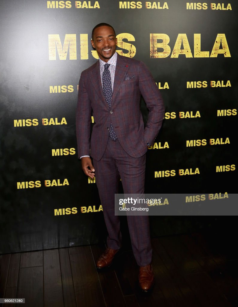 Actor Anthony Mackie attends the CinemaCon 2018 Gala Opening Night Event: Sony Pictures Highlights its 2018 Summer and Beyond Films at The Colosseum at Caesars Palace during CinemaCon, the official convention of the National Association of Theatre Owners,on April 23, 2018 in Las Vegas, Nevada.