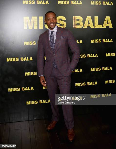 Actor Anthony Mackie attends the CinemaCon 2018 Gala Opening Night Event Sony Pictures Highlights its 2018 Summer and Beyond Films at The Colosseum...
